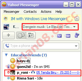 Yahoo! Messenger Status with Plugin Winamp
