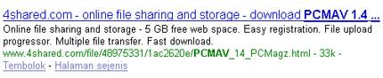 Hasi Pencarian dengan Google