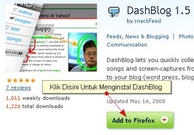 Add Dashblog to Firefox