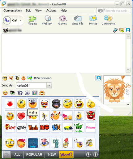 Toolbar SweetIM