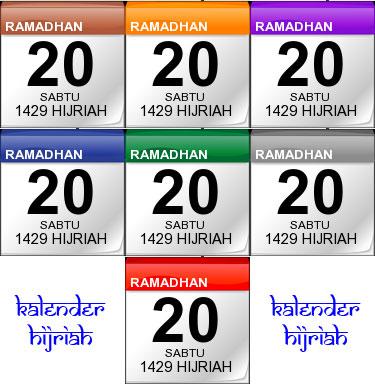 Macam-macam Pilihan Warna Kalender Hijriah