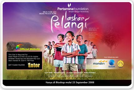 Situs Resmi Laskar Pelangi the movie