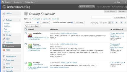 Wajah Baru Dashboard WordPress