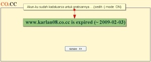 www.karlan08.co.cc has expired